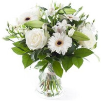 White mixed bouquet, excl. vase